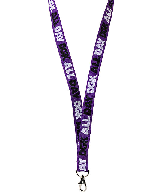 DGK All Day Purple, Black & White Lanyard