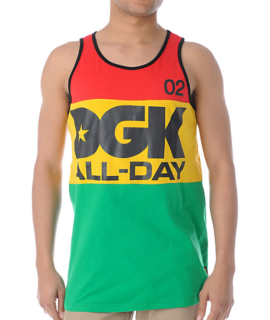 DGK All Day Sport Rasta Tank Top