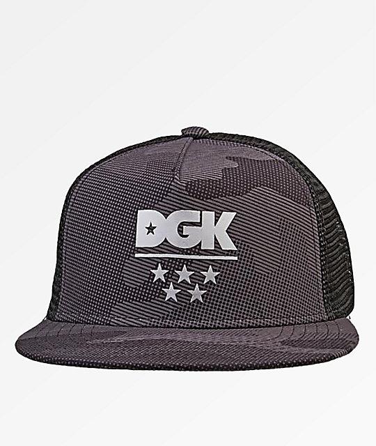 1b1c7f9c DGK Alpha Black Camo Trucker Hat | Zumiez.ca