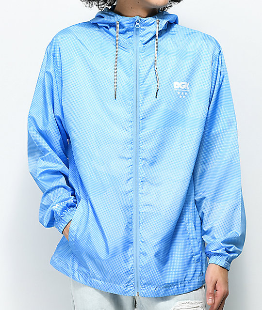 DGK Alpha Light Blue Windbreaker Jacket