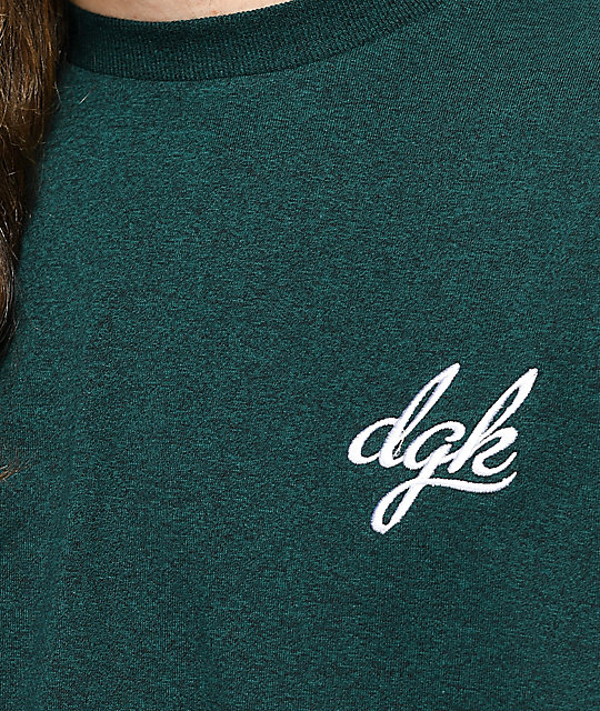 DGK Avenue Green & White Knit T-Shirt