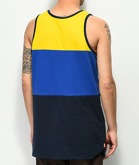 DGK Backhand Yellow Tank Top