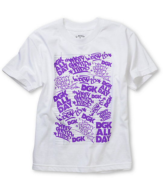 DGK Boys Black Book White T-Shirt