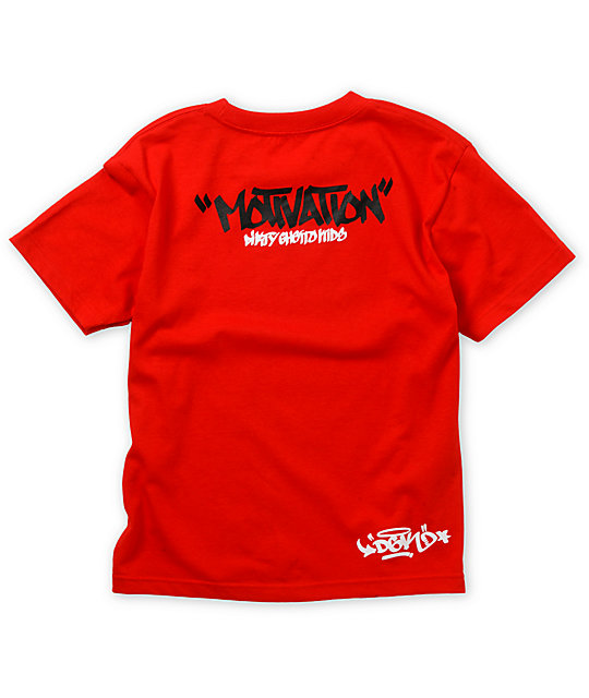 DGK Boys Motivation Red T-Shirt
