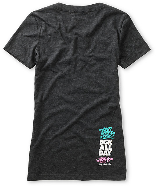 DGK Candy Charcoal V-Neck T-Shirt