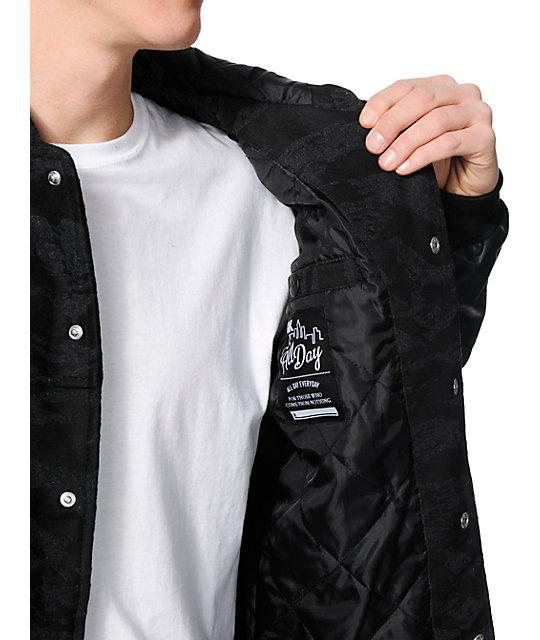 c03b5df0a2eb3 DGK Capital Black Tiger Camo Jacket | Zumiez