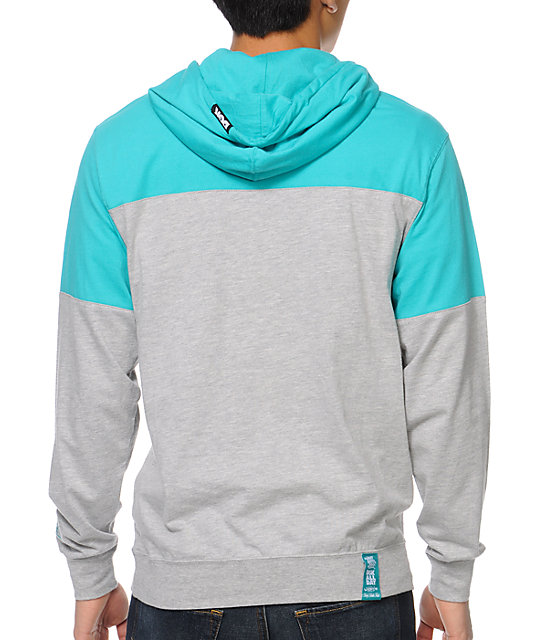 DGK City Teal & Grey Hooded Shirt