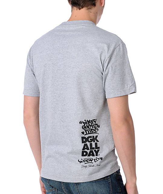 DGK Clean 2 Heather Grey T-Shirt