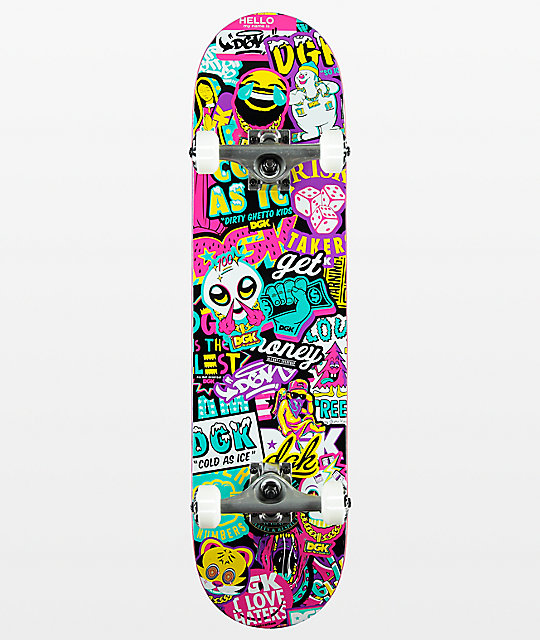 "DGK Collage 7.75"" Skateboard Complete"