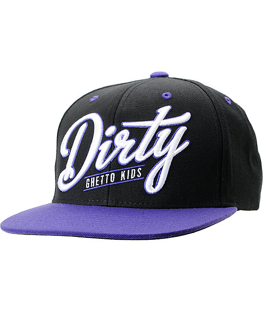 DGK Dirty Black & Purple Snapback Hat