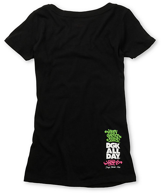 DGK Dirty Black Scoop Neck T-Shirt