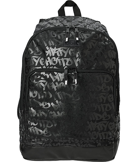 DGK Fat Tip Black Print Backpack
