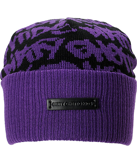 DGK Fat Tip Purple Beanie