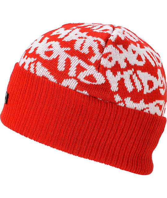 DGK Fat Tip Red Beanie  8182cc6fe0a