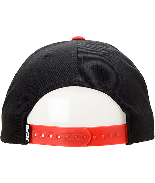 DGK Freshman Black & Red Snapback Hat
