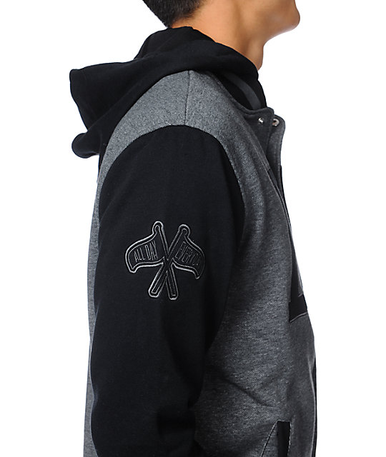 DGK Freshman Black Hooded Varsity Jacket