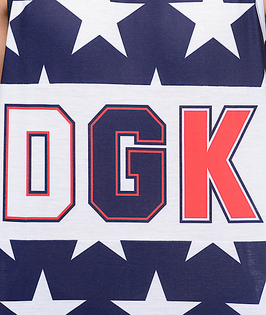 DGK From Nothing Navy Tank Top