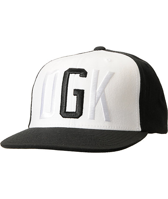 DGK G Black & White Snapback Hat