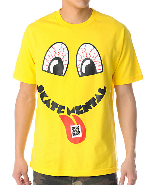 DGK Gone Mental Yellow T-Shirt