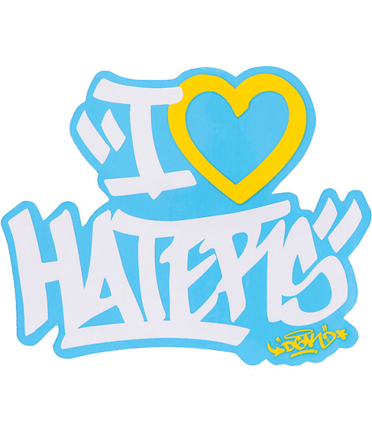 DGK Haters Tag Sticker
