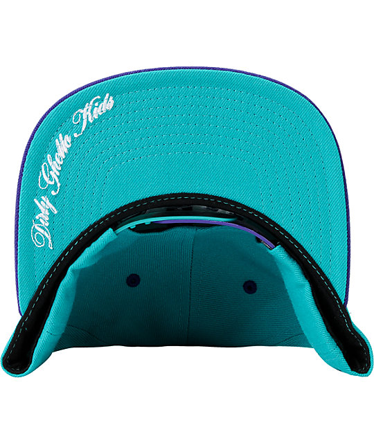 DGK Head Of Class Turquoise & Purple Snapback Hat