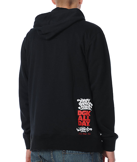 DGK Heart Of The City Black Pullover Hoodie