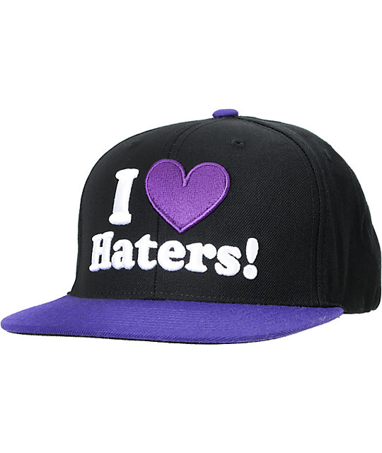 0587f08cae5 DGK I Love Haters Black   Purple Snapback Hat