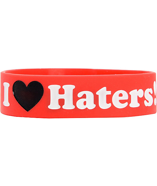 DGK I Love Haters Red & Black Bracelet