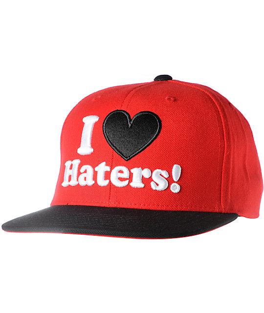 726ea08eeef DGK I Love Haters Red   Black Snapback Hat