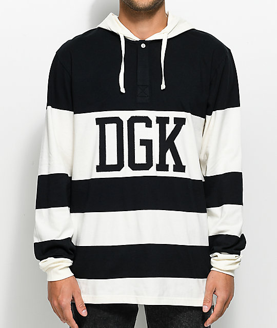 DGK Jumper Long Sleeve Hooded Rugby T-Shirt