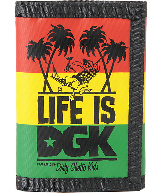 DGK Life Is Rasta Tri-Fold Wallet