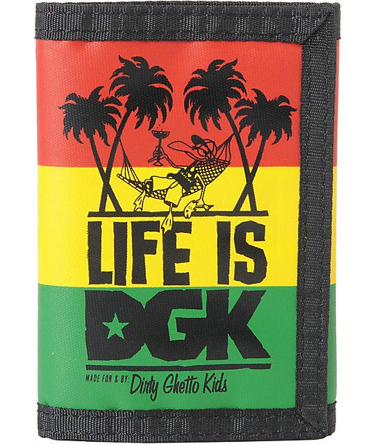 DGK Life Is Rasta Tri-Fold Wallet   Zumiez
