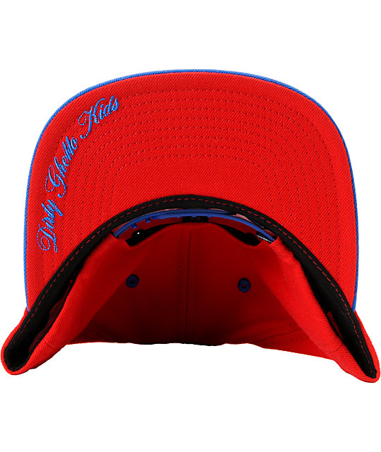 DGK Loaded Clips Red & Blue Snapback Hat
