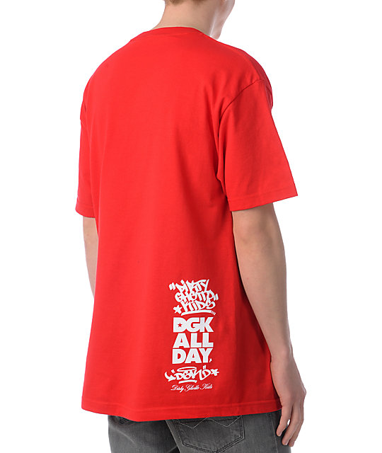DGK Made For Red & White T-Shirt