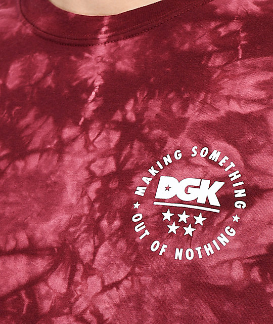 DGK Making Something Burgundy Tie Dye T-Shirt