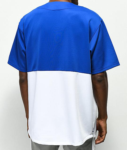 low cost c7cc7 6b21a DGK Mascot Blue & White Baseball Jersey