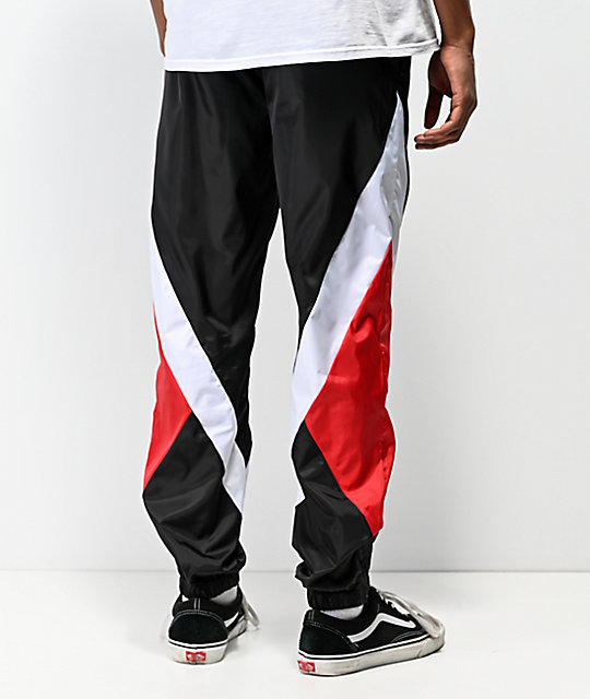 DGK Mirage Swishy Black & Red Track Pants