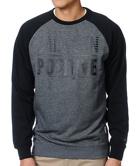DGK Negative 2 Positive Black Crew Neck Sweatshirt