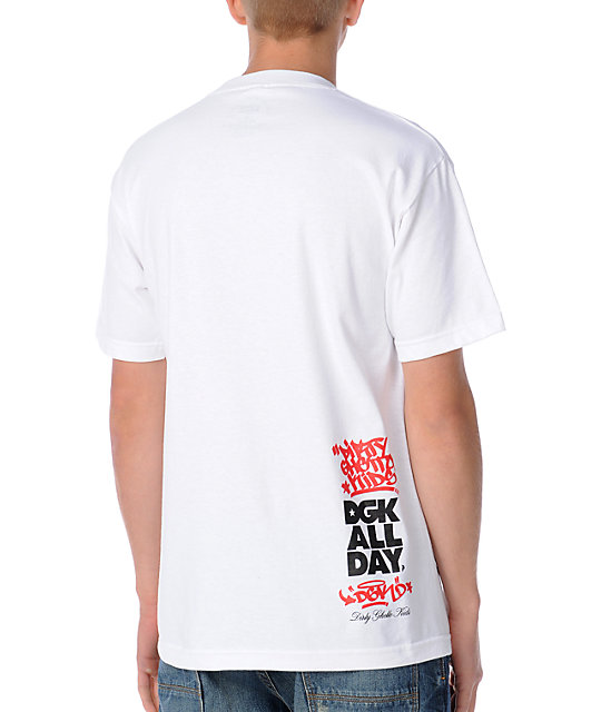 DGK No Graffiti White T-Shirt