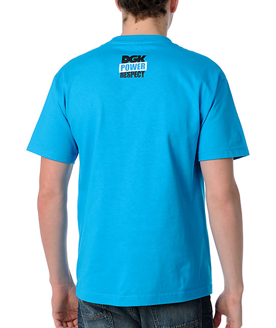 DGK Power & Respect Teal T-Shirt