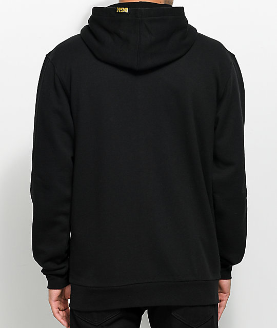 DGK Shut Out Black Varsity Snap Front Hoodie