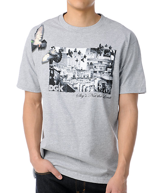 DGK Skys Not The Limit Heather Grey T-Shirt