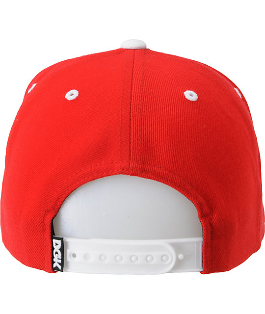DGK Smile Face Red Snapback Hat