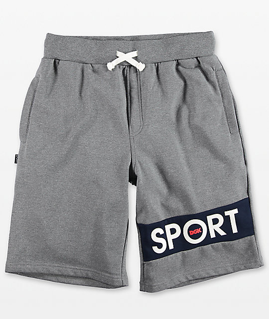 DGK Sport Grey Fleece Shorts