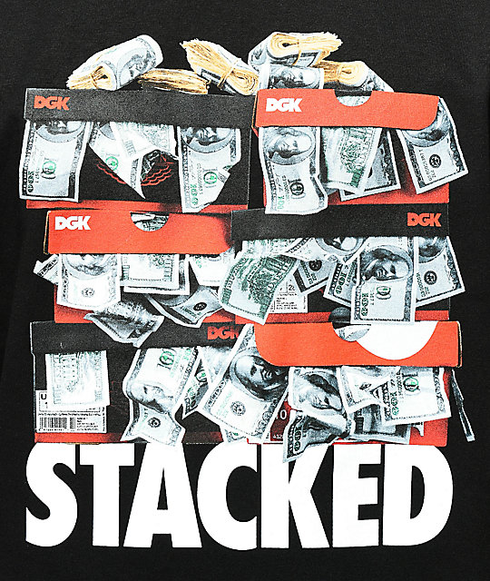 DGK Stacked camiseta negra