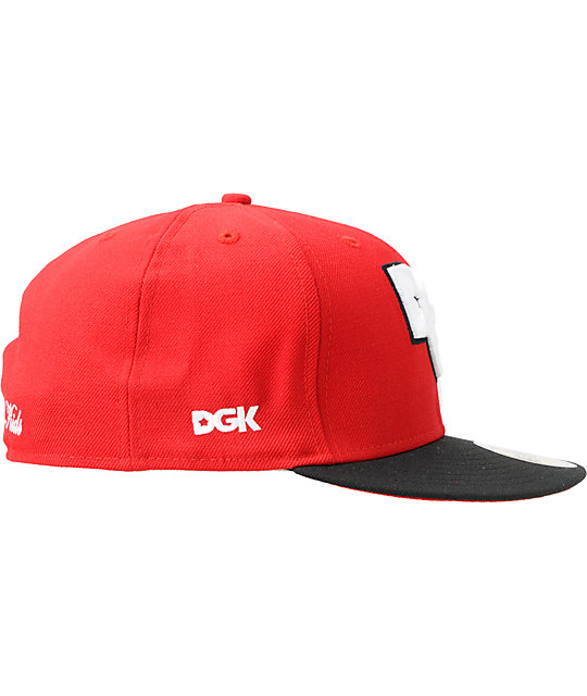 DGK Stagger Red & Black 2 Tone 59Fifty New Era Fitted Hat