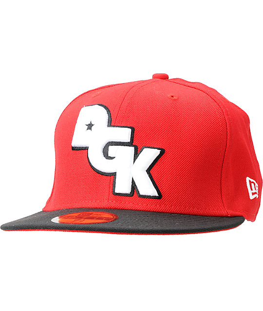 ... good dgk stagger red black 2 tone 59fifty new era fitted hat f5fb2 dafd4 2453be2c0cbc