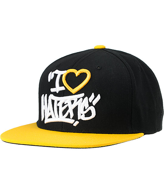 DGK Tag Haters Black & Yellow Snapback Hat