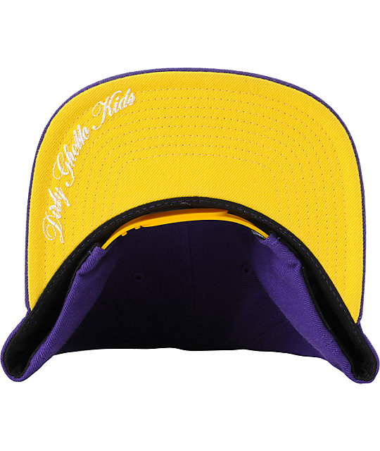 DGK Tag I Love Haters Purple & Yellow Snapback Hat