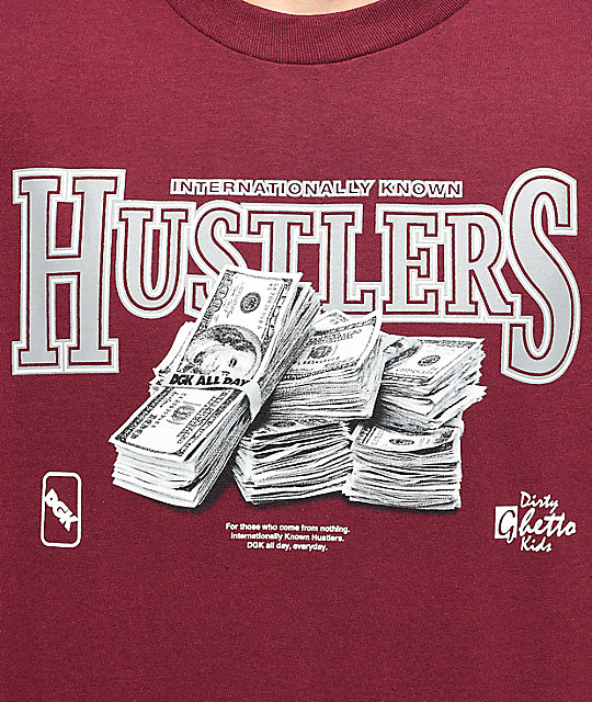 DGK Team Hustle Burgundy T-Shirt